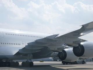 A380。でっかいエンジンですね。