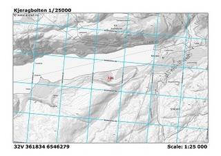 シェラーグボルテン付近の地図。